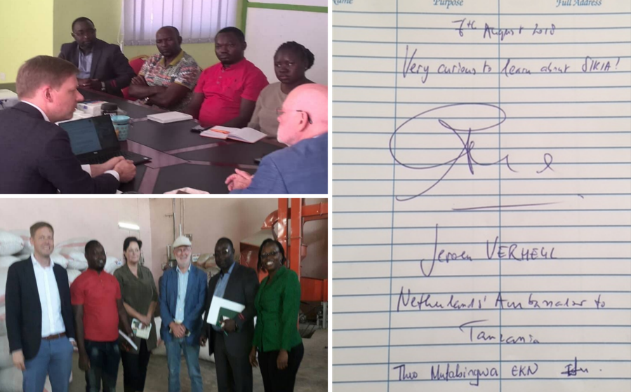 Embassy of the Kingdom of the Netherlands Dar es Salaam (EKN) visits the SIKIA project in Mbeya.
